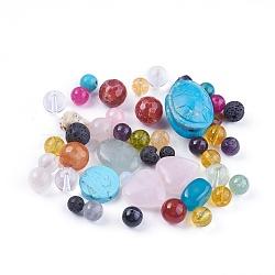 Perles de pierres précieuses naturelles / synthétiques, formes mixtes, 4.5~25.5x4~19.5x2.5~16.5mm, trou: 0.8~1.8 mm; environ 65 pcs / 200 g(G-XCP0006-02)