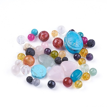 Natural/Synthetic Gemstone Beads, Mixed Shapes, 4.5~25.5x4~19.5x2.5~16.5mm, Hole: 0.8~1.8mm; about 65pcs/200g(G-XCP0006-02)