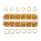 Golden Ring Iron Close but Unsoldered Jump Rings(IFIN-X0005-G-B)