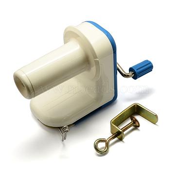 Plastic Yarn Ball Winder, Creamy White, 120x95x190mm(TOOL-R039-02)