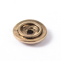 Flat Round Alloy Spacer Beads, Lead Free & Cadmium Free & Nickel Free, Antique Golden, 8x2mm, Hole: 2mm(X-PALLOY-ZN49574-AG-NR)