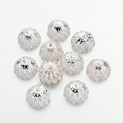 железный шарик крышки, мульти-лепесток, серебристый цвет, 8x4 mm; о 81 шт / 10 г(X-IFIN-D044-8x4-S)