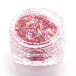 Flocons de coquille de couleur bonbon, manucure nail art décoration, paillettes pour ongles, rouge, 3x1.5 cm(MRMJ-L001-27G)