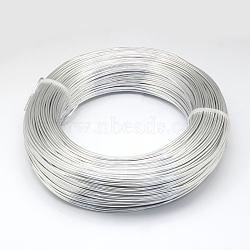 алюминиевая проволока, для бисероплетения, серебро, 1.5 мм; 100 м / 500 г(AW-S001-1.5mm-01)