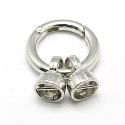Brass Spring Gate Rings, O Rings, Platinum, 6 Gauge, 35mm(KK-E384-P)