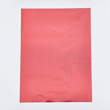 A4 Hot Stamping Foil Paper, Transfer Foil Paper, Elegance Laser Printer Craft Paper, Orange Red, 28.5x21.1cm; 5sheets/set(DIY-WH0151-35B)
