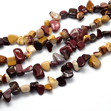 Mookaite Beads Strands, Nuggets, 7~12x8~16mm, Hole: 1mm; about 15.7 inches(G-O050-18)