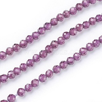 2mm Purple Round Garnet Beads