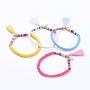 Mixed Color Polymer Clay Bracelets(BJEW-JB05084)