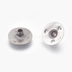 base de mèche de bougie de fer, platine, 12.5x4 mm, trou: 2.5 mm(X-IFIN-WH0074-01P)