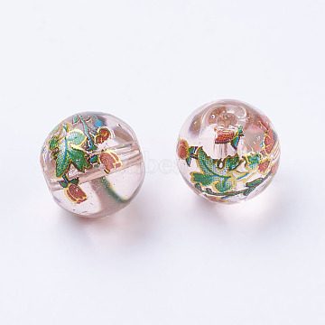 10mm Thistle Round Glass Beads