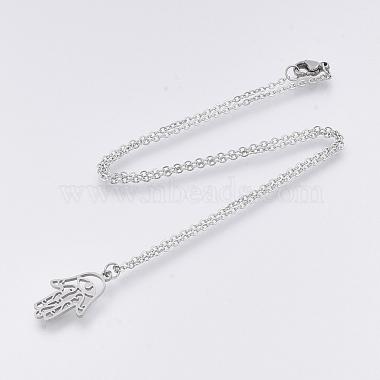 201 Stainless Steel Pendant Necklaces(NJEW-T009-JN135-40-1)-2