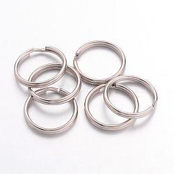 Iron Split Rings, Platinum Color, 1.5mm thick, 16mm in diameter; about 14.5mm inner diameter(JRD16mm)