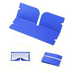 Organisateur de clip de rangement en plastique pliable portable, pour couvre-bouche jetable, dodgerblue, 190x120x0.3mm(AJEW-E034-71A)