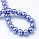 Baking Painted Pearlized Glass Pearl Round Bead Strands(X-HY-Q003-4mm-09)-4