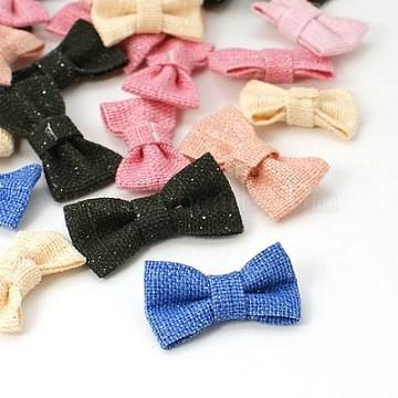 Mixed Color Bowknot Cloth Ornament Accessories