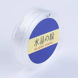 Japanese Round Elastic Crystal String, Elastic Beading Thread, for Stretch Bracelet Making, White, 1mm, 30yards/roll, 90 feet/roll(EW-G007-02-1mm)
