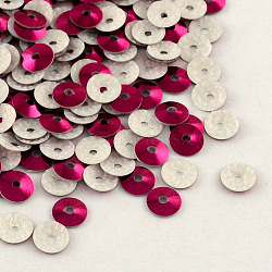 Perles de paillette en plastique en forme de cône, perles de paillettes, mediumvioletred, 6mm, trou: 1 mm; environ 110000 1000 pcs g(PVC-R002-6mm-HF3006)