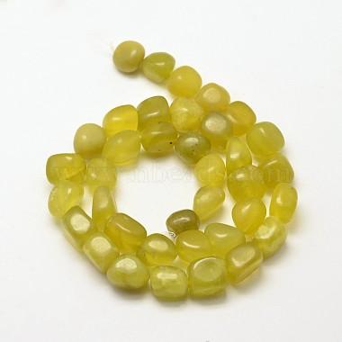 Natural Korea Peridot Nuggets Beads Strands(G-P092-02)-2