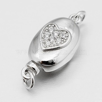 Platinum Oval Sterling Silver Box Clasps
