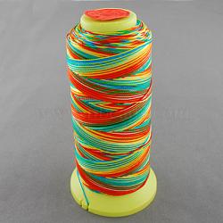 Fil à coudre de nylon, colorées, 0.8mm, environ 300 m / bibone (NWIR-Q005-43)