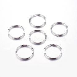 Porte clefs anneaux maretelés en 316 acier inoxydable, 25x1.5mm(X-J0RBB011)
