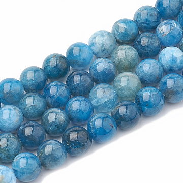 Natural Apatite Beads Strands, Dyed, Round, 6~7mm, Hole: 1mm; about 60~67pcs/strand, 15.7 inches(G-S333-6mm-012)