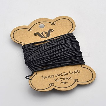 1.2mm Black Waxed Cotton Cord Thread & Cord
