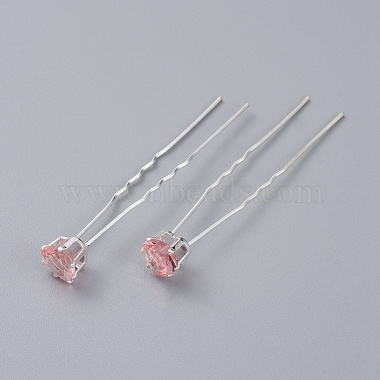 Silver PearlPink Iron Hair Forks