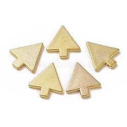 пластиковый кулон ccb, треугольник, золотой, 38.5x34x4 mm, отверстия: 2 mm(CCB-K007-62G)