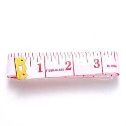 ruban à mesurer souple, double échelle, pour perdre du poids, couture couture artisanat, cerise, 20x0.5 mm; plage de mesure: 1 ou 60 cm ~ 1 cm; 150 brins / boîte(TOOL-Q026-01)