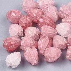 perles de corail synthétiques, teints, fleur, lightcoral, 8.5x7 mm, trou: 1 mm(X-CORA-S026-20A)