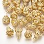 Real 18K Gold Plated Brass Bead Cap Bails(X-KK-T035-97)