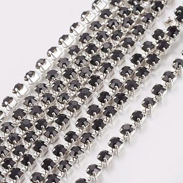 Black Brass + Rhinestone Rhinestone Chains Chain