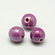 Pearlized MediumOrchid Handmade Porcelain Round Beads(X-PORC-D001-12mm-17)-1
