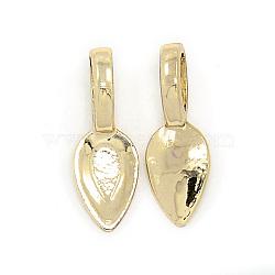 bélière plate à coller en alliage d'or sans nickel et sans plomb, plaqué longue durée, feuille, 21x7x1 mm, trou: 4x6 mm(PALLOY-J218-133G)