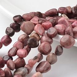 "Pépites rhodochrosite naturel brins de perles, 12~16x8~13x6~8mm, trou: 1mm; environ 53 pcs/chapelet, 15.3""(G-M341-07)"
