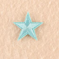 fer à repasser informatisé / coudre des patchs, accessoires de costumes, appliques, étoiles, skyblue, 3x3 cm(DIY-F030-11-11)