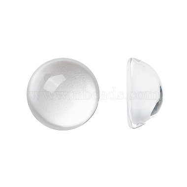 16mm Clear Half Round Glass Cabochons