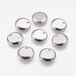 Пластиковые прелести ccb, плоско-круглые, платина, 14x2 мм, отверстие : 2 мм(CCB-J035-052P)
