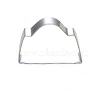 304 Stainless Steel Cookie Cutters, Cookies Moulds, DIY Biscuit Baking Tool, Bag, Stainless Steel Color, 46x74mm(DIY-E012-58)