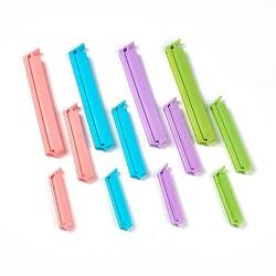 Clips de sac en plastique, agrafes de cachetage de nourriture, couleur mixte, 71.5x14x7.5mm(AJEW-WH0057-09)