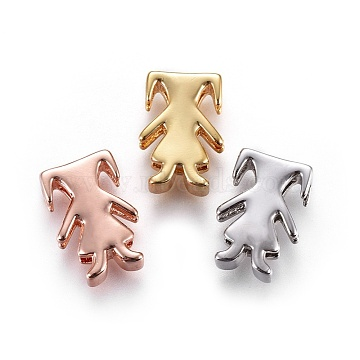 Mixed Color Human Brass Slide Charms