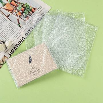Plastic Bubble Wrap Bags, Packaging Bags, Clear, 10x8cm(ABAG-R017-8x10-01)