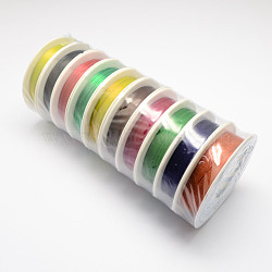 железная проволока, cmешанный цвет, 26 датчик, 0.4 mm, 12 м / рулон, 10 рулонов / набор(MW-R001-0.4mm-M)