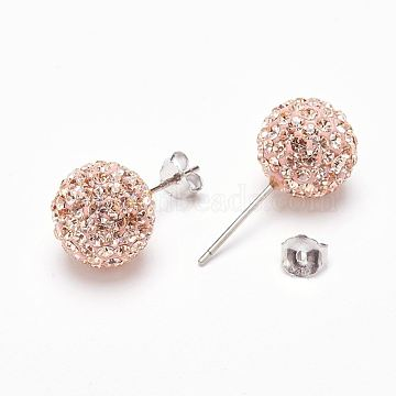 20mm Sterling Silver + Austrian Crystal Stud Earrings