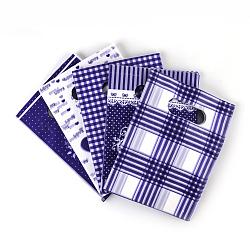 Sacs en plastique imprimés, rectangle, mauve, 50x40 cm(PE-T003-40x50cm-03)