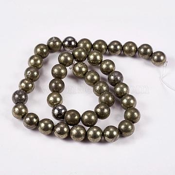 10mm DarkKhaki Round Pyrite Beads