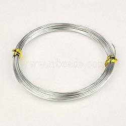 Fils d'aluminium, argenterie, 20 jauge, 0.8mm, 10m/rouleau(X-AW-AW10x0.8mm-01)