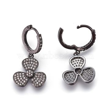Clear Brass Earrings